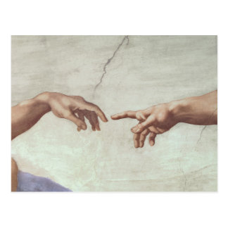 Hands of God and Adam Postcard