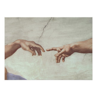 Hands of God and Adam Posters
