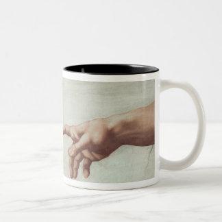 Hands of God and Adam Two-Tone Coffee Mug