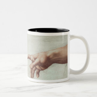 Hands of God and Adam Two-Tone Mug