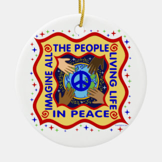 Hands of Peace Christmas Ornament