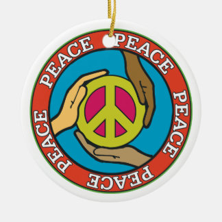 Hands of Peace Christmas Tree Ornaments
