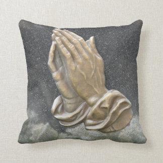 HANDS OF PRAYER THROW PILLOW