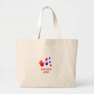 hands off large tote bag