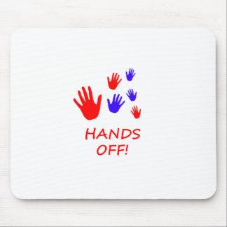 hands off mouse mat