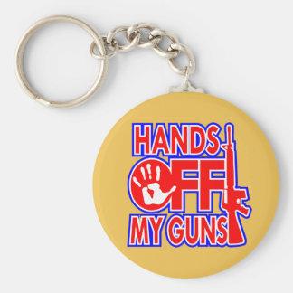 Hands Off My Guns (c) WhiteTigerLLC.com Keychain