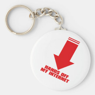 HANDS_OFF_MY_INTERNET BASIC ROUND BUTTON KEY RING
