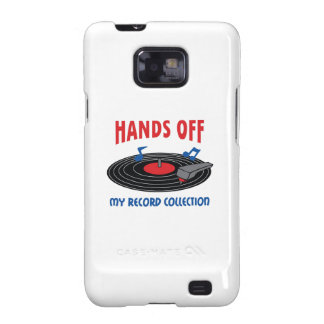 HANDS OFF MY RECORD COLLECTION SAMSUNG GALAXY S2 COVERS
