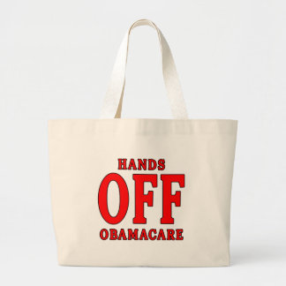HANDS OFF OBAMACARE TOTE BAGS
