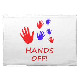 hands off placemat