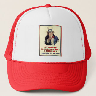 Hands Off Social Security Trucker Hat