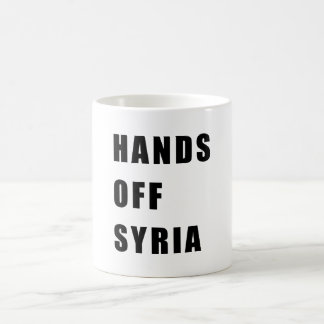 Hands off Syria Coffee Mug