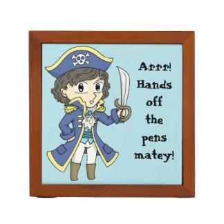 Hands off the pens! - Pirate desk organiser
