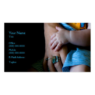 Hands Pack Of Standard Business Cards