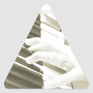 hands playing the piano photograph sepia triangle sticker