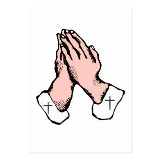 Hands Praying Cross Trading Card Business Card