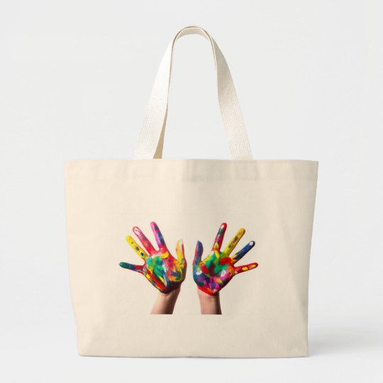 Hands printed tote bag
