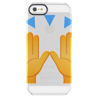 Hands Raised Emoji Clear iPhone SE/5/5s Case