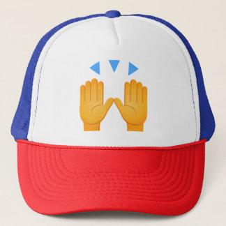 Hands Raised Emoji Trucker Hat