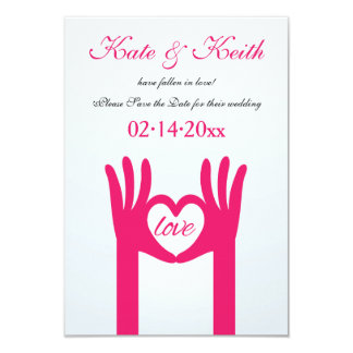 Hands Shaping A Heart Save the Date Announcement
