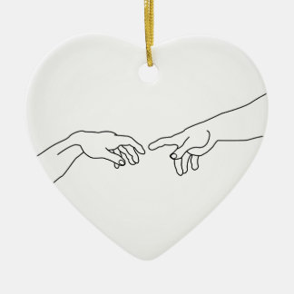 Hands showing the creation of Adam Christmas Ornament
