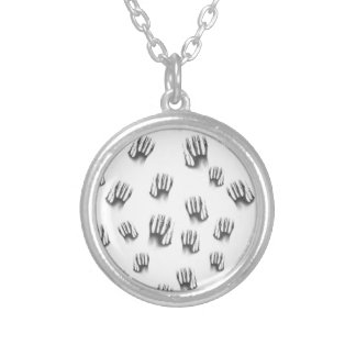 Hands Silver Plated Necklace