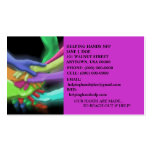 HANDS TEAM CHARITY NFP RETRO NEON BUSINESS CARDS