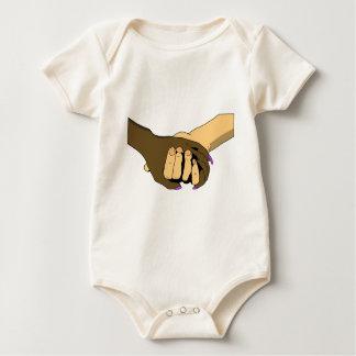 Hands together baby bodysuit