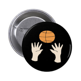 Hands Up Pinback Button