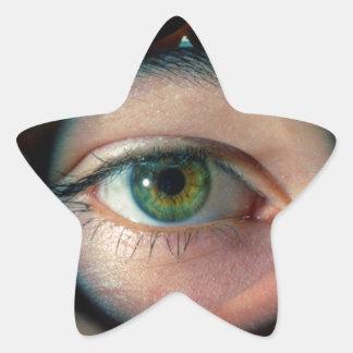 Hands with eye, star sticker