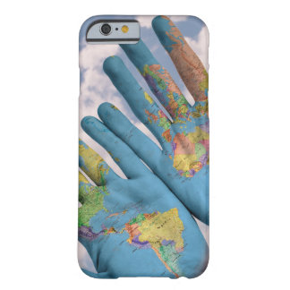 Hands world map global Iphone 6 Case