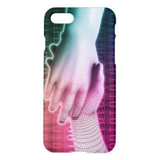Handshake Between Man and Machine iPhone 7 Case