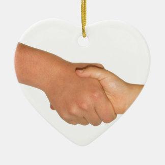 Handshake Christmas Ornament