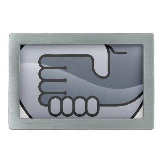 Handshake Circle Concept Belt Buckles