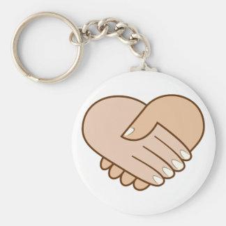 Handshake heart handshake heart key ring