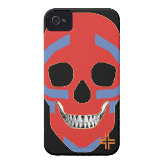 HANDSKULL Crazy Head - iPhone 4 Barely There Univ iPhone 4 Case