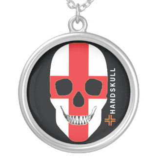 HANDSKULL England,Happy skull,England flag Custom Necklace