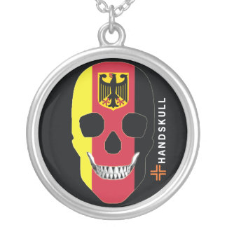 HANDSKULL Germany,Happy skull,Germany flag Personalized Necklace