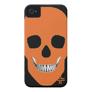 HANDSKULL Orange - IPhone 4 Barely There Univ iPhone 4 Case
