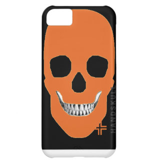 HANDSKULL Orange iPhone 5C Barely There Case-Mate