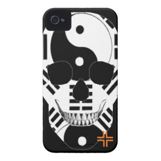 HANDSKULL Yin Yang - IPhone 4 Barely There Univ iPhone 4 Cases