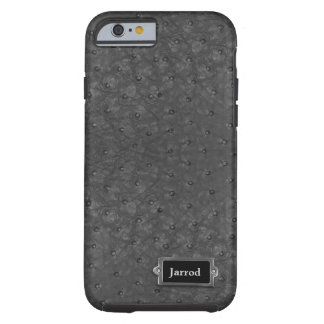 Handsome Black Ostrich Leather Look Tough iPhone 6 Case