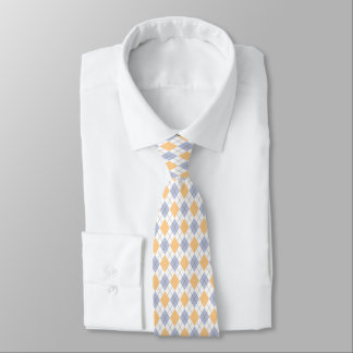 Handsome Blue & Yellow Argyle Neck Tie