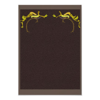 Handsome brown and gold invitation card