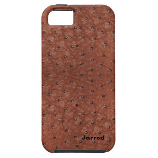 Handsome Brown Ostrich Leather Look iPhone 5 Case