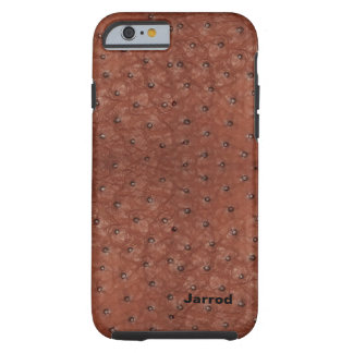 Handsome Brown Ostrich Leather Look Tough iPhone 6 Case