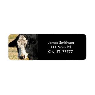 Handsome Bull Return Address Label
