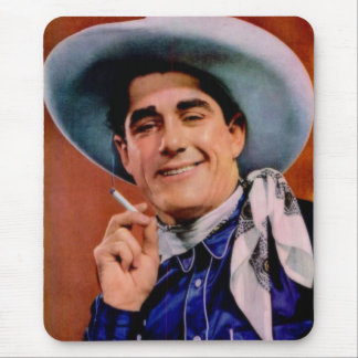 handsome cowboy with cigarette mouse mat