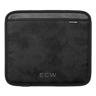 * Handsome Faux Stamped Mottled Black iPad Sleeve