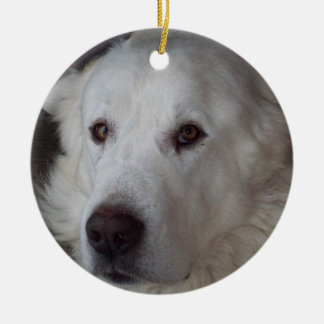 Handsome Great Pyrenees Dog Christmas Ornament